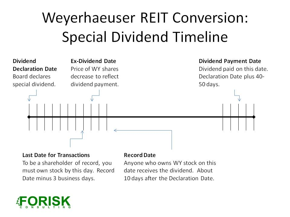 Timber REITs: Weyerhaeuser's Conversion and Special Dividend