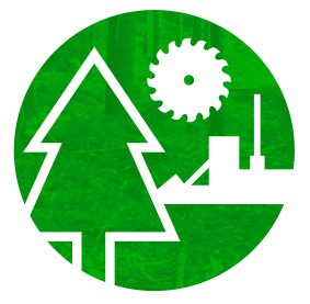 North American Forest Industry Capacity Icon
